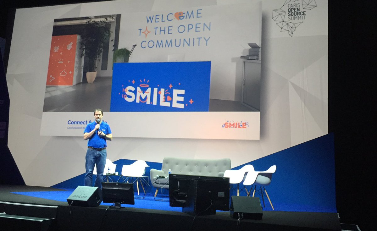 Cédric Ravalec of Smile on the main stage